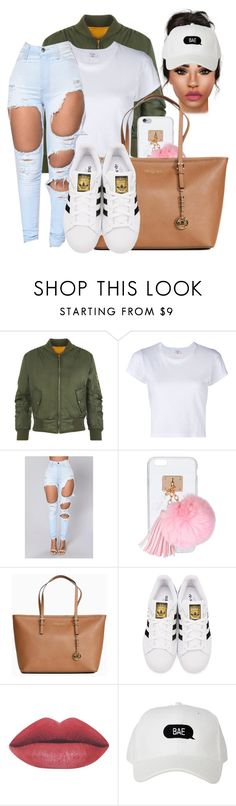 """Turn the 6 upside down"" by mrpostman ❤ liked on Polyvore featuring WearAll, RE/DONE, Ashlyn'd, Michael Kors and adidas Originals"