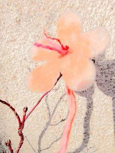 Flower Hair clip and brooche. Hand made felted. Light Orange, Spring Flowers, Hair Clips, Flora, Felt, Brooch, Pink, Gifts, Handmade