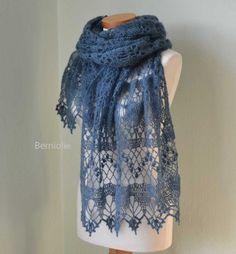 WISTERIA Crochet shawl pattern pdf by BernioliesDesigns on Etsy Shawl Crochet, Gilet Crochet, Crochet Shawls And Wraps, Knitted Shawls, Crochet Scarves, Crochet Clothes, Knit Crochet, Crochet Dresses, Crochet Tops