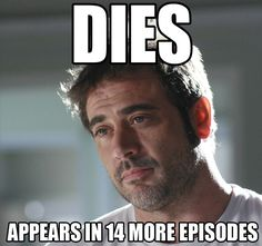 Why SPNfans don't panic too much when a character dies You can say the same for Greys lol.