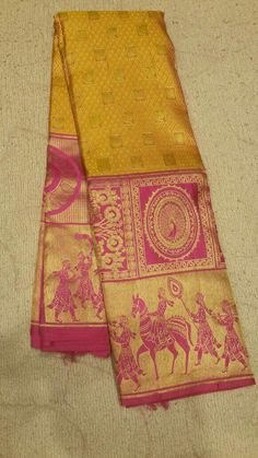 Discover recipes, home ideas, style inspiration and other ideas to try. South Indian Sarees, Indian Silk Sarees, Pure Silk Sarees, Cotton Saree, Banaras Sarees, Kanchipuram Saree, Indian Attire, Indian Outfits, Yellow Saree
