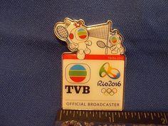2016 Rio Olympic Media Pin TVB Badminton Television Broadcasts Limited Hong Kong