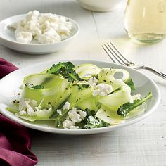 Shaved Broccoli Stalk Salad with Lime Recipe | MyRecipes