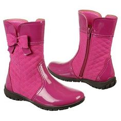 Hush Puppies Foxcroft Tod/Pre Boots (Dk Pink Multi) - Kids' Boots - 9.0 M