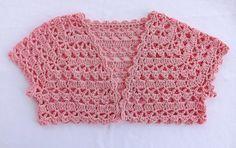 Crochet Baby Shrug, Crochet Girls Dress Pattern, Crochet Shrug Pattern, Crochet Baby Sandals, Crochet Jacket, Crochet Blouse, Crochet Stitches, Crochet For Kids, Free Crochet