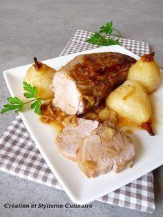 Pour un menu sans gluten de fête, une envie de gâter mes convives, je réalise cette recette de filet mignon de porc aux poires, au miel et au cumin. Cuisiné entier et à l'étouffé, il conserve un incomparable moelleux!