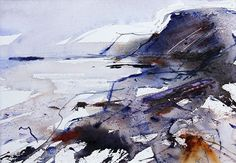 Port Mulgrave, North Yorkshire. Watercolour by Adrian Homersham http://adrianhomersham.co.uk/