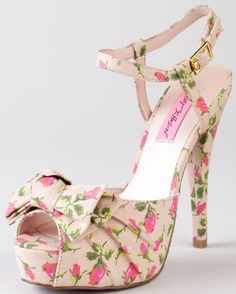 How Sweet would these be with your Wedding Dress! by Betsey Johnson