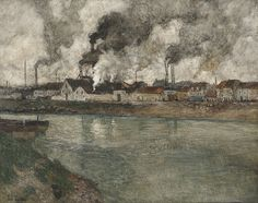 Frits Thaulow, 'The Smoke' (1898). Private collection.