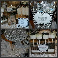 Black and White Wedding Candy Buffet