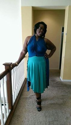 Halter dress designed by Anointed
