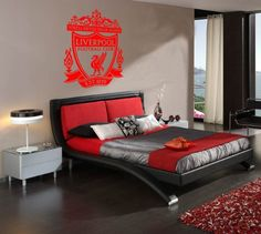 exciting football theme bedroom lfc room idea   1000+ images about Frankie on Pinterest   Soccer room ...