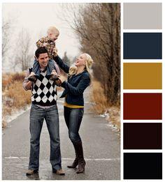 family photo wardrobe colors...fall colors