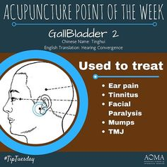 #TipTuesday: #Acupuncture Point of the Week, GB 2!