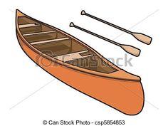 Vectores de vector, paleta, Ilustración, canoa - kayac, o, canoa ...