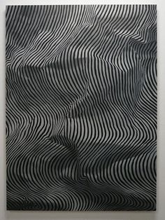 Mark Hagen    A Perfumed Fog Overwhelming the Village ((Zebra))    2009    Oil on Canvas    67 x 48 inches