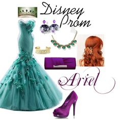 """Disney Prom: Ariel"" on Polyvore"