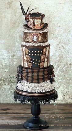 steampunktendencies: Cakes by Sweetlake Cakes (First image: Steampunk Tendencies' Cake by Sweetlake Cakes)