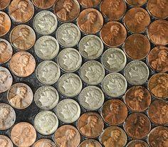 portland-press-herald_3533583 flooring using pennies and nickels