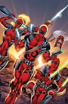 Deadpool Corps (Deadpool, Lady Deadpool, Kidpool, Dogpool, & Headpool)