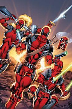Deadpool Corps (Deadpool, Lady Deadpool, Kidpool, Dogpool, & Headpool)