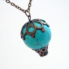 Albuquerque Dreams  Turquoise Howlite Hot Air by TrashAndTrinkets