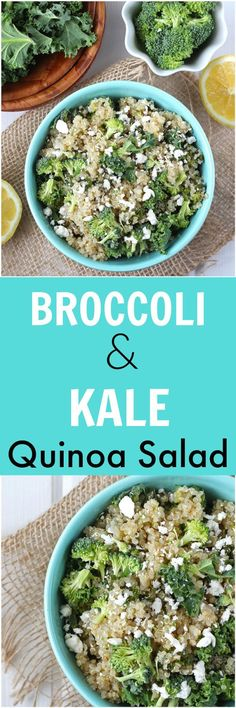 This Broccoli & Kale Quinoa Salad is a simple gluten-free side dish or even main meal. Packed with complex carbohydrates and complete protein, this dish comes together in under 20 minutes!