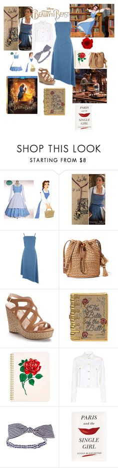 """""""Modern Day Belle!"""" by sallytcrosswell ❤ liked on Polyvore featuring Disney, Emma Watson, Warehouse, Jennifer Lopez, Judith Leiber, ban.do, Maje, Topshop, Kate Spade and modern"""