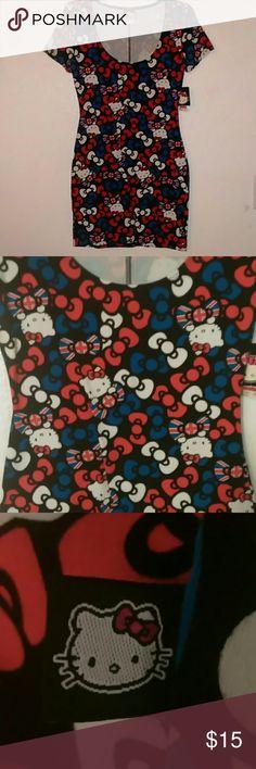 "Hello Kitty Dress Printed London Inspired ""Hello Kitty"" Bodycon Dress. Short-sleeves, scoop-neck, & no closures.*NWT!! Hello Kitty Dresses Mini"