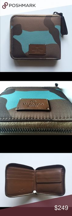 Valentino men's camouflage zip around wallet Valentino men's camouflage zip around wallet, with the original dust bag. 100% authentic, bought in store, in very good condition, like new! Valentino Bags Wallets