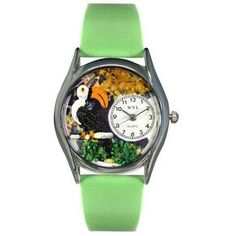 Whimsical Womens Toucan Green Leather Watch