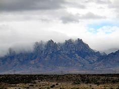 Gorgeous peaks of the Organ Mountains among the clouds.