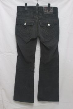 532983e02 VINTAGE MENS TRUE RELIGION BOOT CUT CORDUROY PANTS w28 L30 made in USA f-48