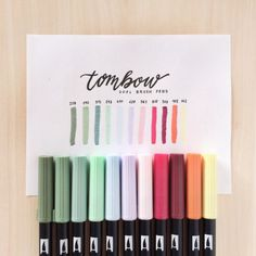 This is my post woo 🎉 I've decided to do a little Tombow swatch (even though it's kind of killing my feed 😅). Stationary School, School Stationery, Cute Stationery, Stationary Store, Bullet Journal Ideas Pages, Bullet Journal Inspiration, Lettering Tutorial, Arte Sharpie, Stylo Art
