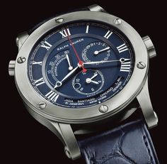 """5acb48c87309 """" Ralph Lauren Watches """" The 45 mm Chronograph World Time Model in  stainless steel – a nautical twist on the Sporting Classic"""
