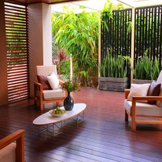 Planning the style of the deck is as important as planning the home interior. Look at these modern deck design ideas and find Outdoor Rooms, Outdoor Living, Outdoor Furniture Sets, Outdoor Decor, Outdoor Planters, Outdoor Areas, Indoor Outdoor, Garden Privacy, Privacy Screen Outdoor
