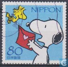 Postzegels - Japan - Peanuts postage. Yes, please.