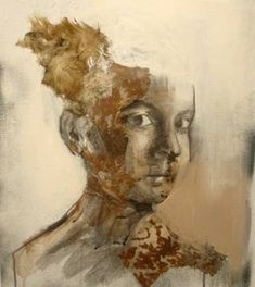 """Saatchi Art Artist katerina christopoulou; Collage, """"young woman"""" #art"""