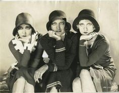 "Dorothy Sebastian, Joan Crawford and Anita Page    ""Our Dancing Daughters"", 1928 Joan's eyes are hard to look away from.."