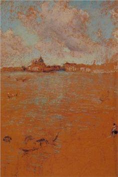 James McNeill Whistler (American: 1834- 1903)   Venetian Scene