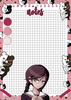 Bullet Journal Boxes, Pink Mobile, Photo Collage Template, Diy Calendar, Cute Notes, Gothic Anime, Kawaii, Estilo Anime, Anime Stickers