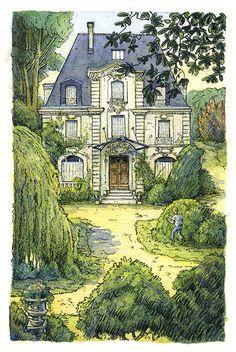 Galerie   Yves Besnier   illustrateur et peintre à Angers, France   Page 3 Angers France, Mansions, House Styles, Art, Illustrator, Art Background, Manor Houses, Villas, Kunst