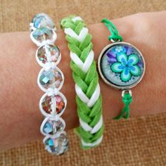 Check out this item in my Etsy shop https://www.etsy.com/listing/231393995/set-of-3-bracelets