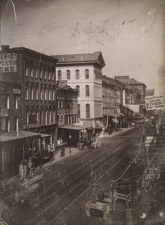 Locust street looking north from 4th street 1867