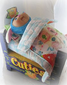 Cuties Crate Doll Bed