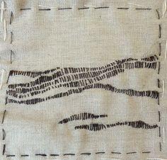 Stitch art experiment - a little landscape - by Hieke Denijs - 140914