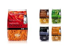 Here's some more great pasts for you. Giovanni Rana on Packaging of the World colorful pasta packaging PD.