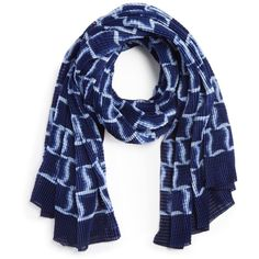 Armani Collezioni Pleated Scarf (27.890 RUB) ❤ liked on Polyvore featuring accessories, scarves, navy, navy scarves, navy shawl, navy blue shawl, armani collezioni and navy blue scarves
