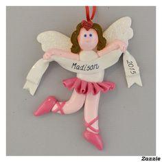 Ballerina Brunette Personalized Ornament Personalized Productspersonalized Ornamentshanging Ornamentshandmade Christmaschristmas