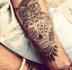 Owl #tattoo sleeve beginners